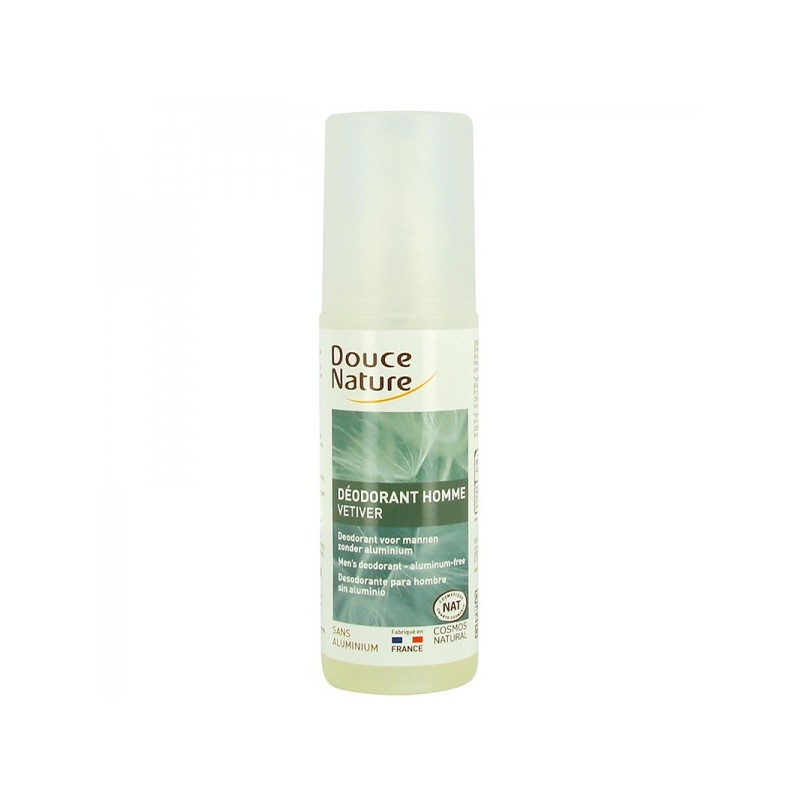Déodorant spray Homme Vétiver Bio Cosmetique Bio